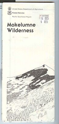 USDA National Forest Service map MOKELUMNE Wilderness California 1988