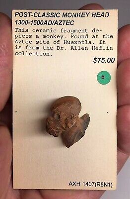Pre-Columbian ZOOMORPHIC Terracotta Pottery Ancient Fragment Artifact AZTEC