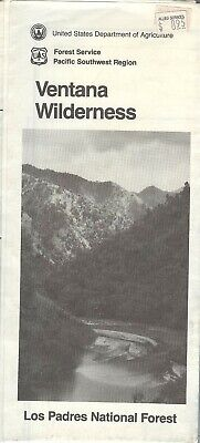 USDA National Forest Service map VENTANA Wilderness Los Padres 1987 - California