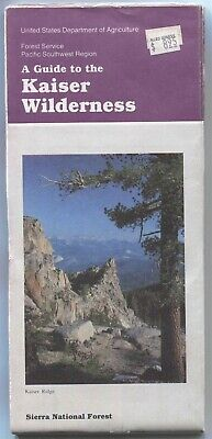 USDA National Forest Service map Kaiser Wilderness Sierra NF 1991 California