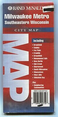 Rand-McNally city map: MILWAUKEE METRO Southeastern Wisconsin 🧀 1997 Seeger 🗺