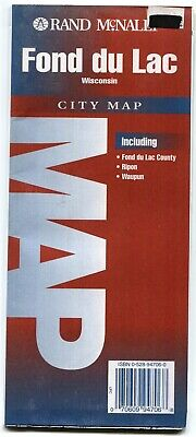 Rand-McNally city map: FOND DU LAC ✟ Wisconsin 🧀 ©1994 🗺 Ripon 🐘 Waupun 🌅