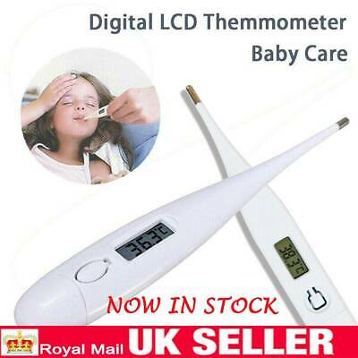 LCD Digital Audible Thermometer  Fever Adults Baby Oral Underarm Home Tools