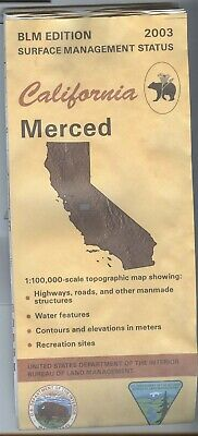 USGS BLM edition topographic map California MERCED - 2003 - BAD - surface status