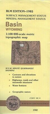 USGS BLM edition topographic map Wyoming BASIN 1985 mineral