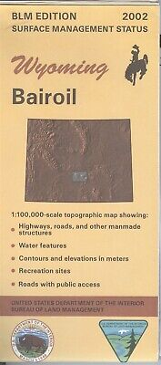 USGS BLM edition topographic map Wyoming BAIROIL 2002