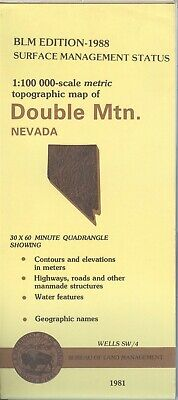 USGS BLM edition topographic map Nevada DOUBLE MTN. 1988 WELLS SW/4
