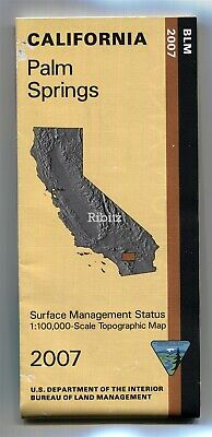 USGS BLM edition topo map PALM SPRINGS California 🌴 double-sided 🌴 DESERT CON.