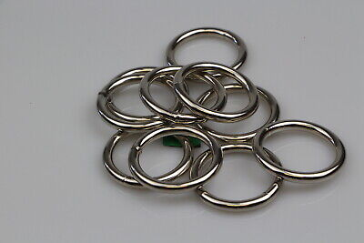 O Ring  6 x welded steel 38mm x 6mm horse rugs dog collars leads