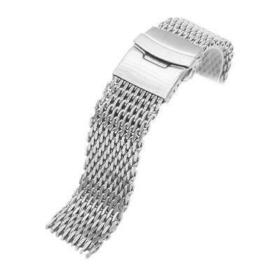 Stainless Steel Dive Shark Mesh Milanese Watch Bracelet Strap Band 18/20/22 F7M2