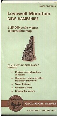 USGS Topographic Map NH - Lovewell Mountain - 1984 provisional - 25K -