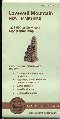 USGS Topographic Map New Hampshire LOVEWELL Mtn 1984 provisional 25K