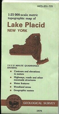 USGS Topographic Map LAKE PLACID - New York - 1979 - 25K -