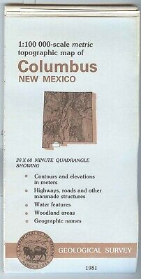 USGS Topographic Map  COLUMBUS New Mexico 1981 - 100K -