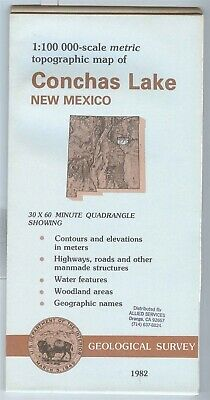 USGS Topographic Map  CONCHAS LAKE New Mexico 1982 - 100K -