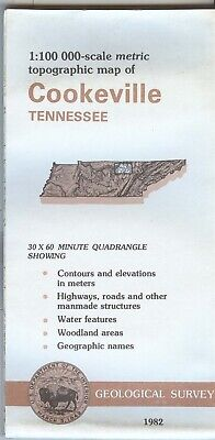 USGS Topographic Map COOKEVILLE - Tennessee - 1982 - 100K -