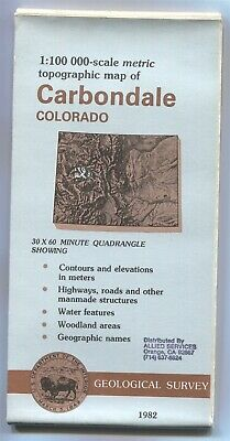 USGS Topographic Map CARBONDALE- Colorado - 1982 - stamped - 100K -