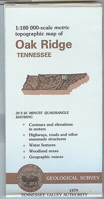 USGS Topographic Map OAK RIDGE - Tennessee - 1979 - TVA - 100K -