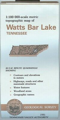 USGS Topographic Map WATTS BAR LAKE - TVA - Tennessee - 1981 - 100K -