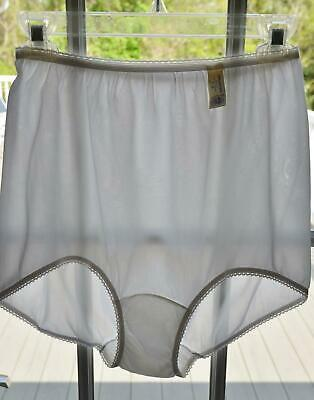 NWT! Vtg 60s Snowy White 100% Acetate Dble Gusset XL Pin Up Panties! size 9