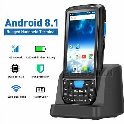 PDA Handheld Android 8.1 POS Terminal Touch Screen 1D 2D QR Barcode Scanner Read