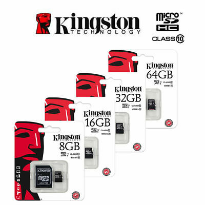 Kingston Micro Sd Scheda Memoria 8-16-32-64-128Gb Class 4 10  Uhs-1 Memory Card