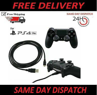 1m Play + Charging Charger Lead Cable For PlayStation PS4 Pro Controller GamePad