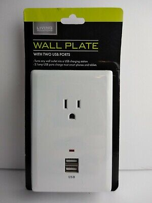 Wall Plate:1 Outlet, 2 USB Ports, 2.1 Amp USB Ports Last one left! Discontinued