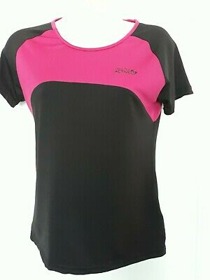 Miss Fiore Active Pink/Black Top Age 13 Bnwot
