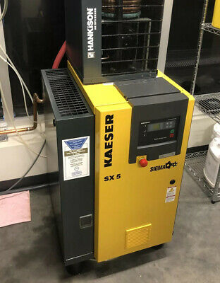 Kaeser Rotary Screw Compressor SX5 125 PSIG 5 HP Tri-Voltage 208Y/120V CAN SHIP