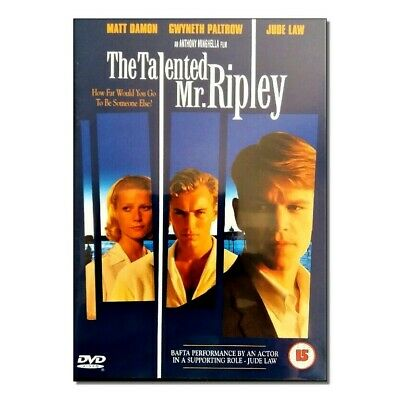 The Talented Mr Ripley Dvd - Matt Damon - Gwyneth Paltrow  - Like New Condition