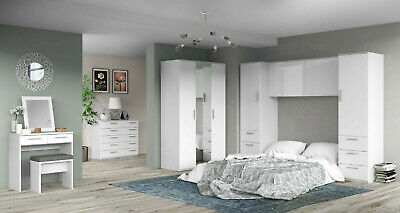 Westbury High Gloss Wardrobe Cupboard Bedside Chest of Drawers Bedroom Furniture