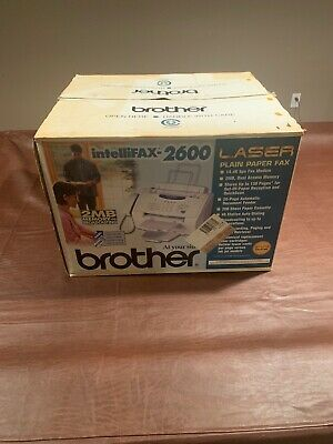 BROTHER INTELLIFAX 2600 Laser Plain Paper Fax BRAND NEW