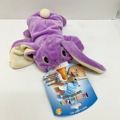 New Baby Plush Purple Bunny Bottle Cover Pets Infant Safe