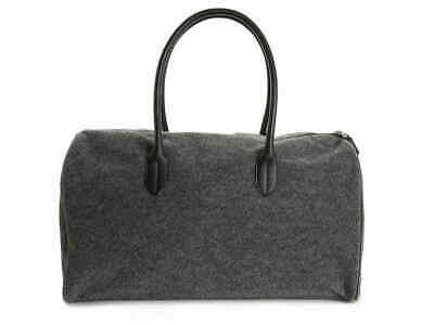 DSW gray weekender duffel bag; designed by Vince Camuto; felt; carry-on