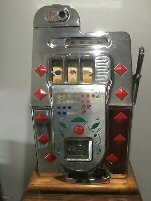 All Original Antique Mills 10 Cent Slot Machine Diamond Front  Works Perfect