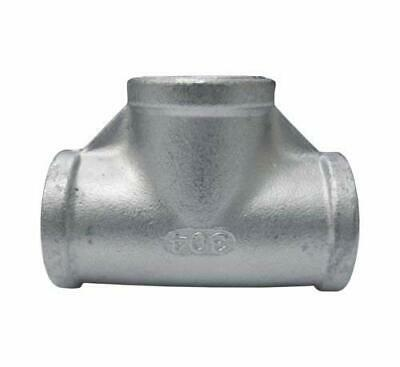 "Stainless Steel 304 Cast Pipe Fitting Tee 1 1/4"" NPT, Class 150"
