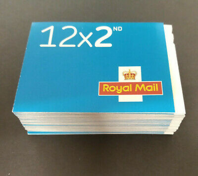 600 x 2nd Class Stamps New Genuine Mint In 50 Self Adhesive Booklets Of 12