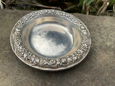 S Kirk & Son Sterling Silver Repousse Wine Coaster 407A Nut Candy Dish Bowl