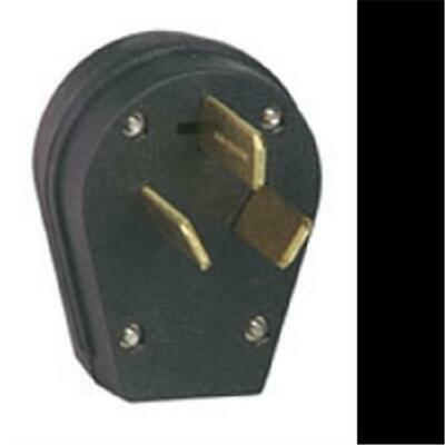 Cooper Wiring - Eagle S80-Sp Black 30-50Amp 125-250 Volt 3 Wire Angle Power Plug