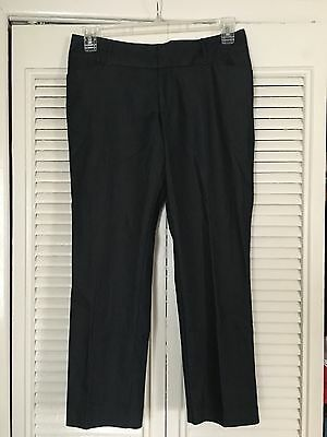 NWOT Women's Mossimo Stretch Capri Pants size 6 dark blue