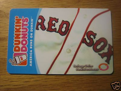Dunkin Donuts Coffee RED SOX Logo Gift Card