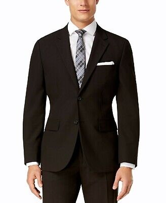 Nautica Mens Suit Separate Black Size 36 Two Button Stretch Modern-Fit $155 067