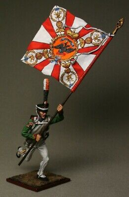 Painted Tin Toy Soldier Standart Bearer of the Polish uhlans  54mm 1//32