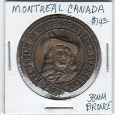 Token - Montreal, Canada - The Governor's Feast - 38 MM Bronze