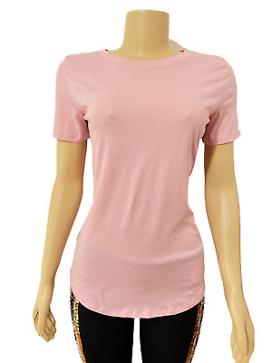 VICTORIAS SECRET Pink Everyday Solid Crew-Neck Tee T-shirt Top Pale Pink