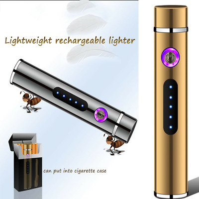 1 X Dual Arc Electric USB Lighter Rechargeable Plasma Windproof Flameless RHL