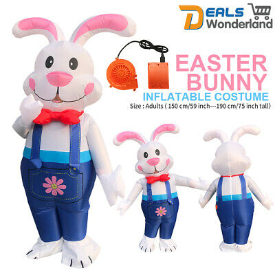 Easter Inflatable Bunny Costume Halloween Cosplay Blow Up Suit Fancy Dress Adult