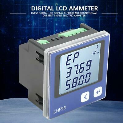3-Phase Digital Power Meter Voltage Amp Ammeter Energy Tester RS-485 Interface