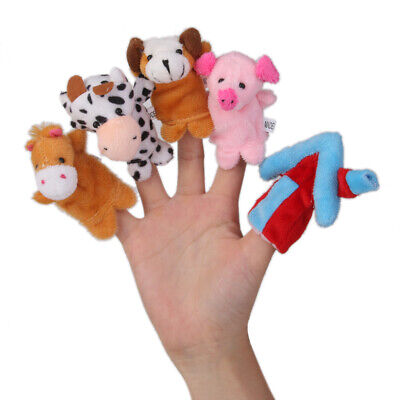 Cartoon Cute Three Little Pigs Farm Animals Finger Puppets Playkit Favor Toy